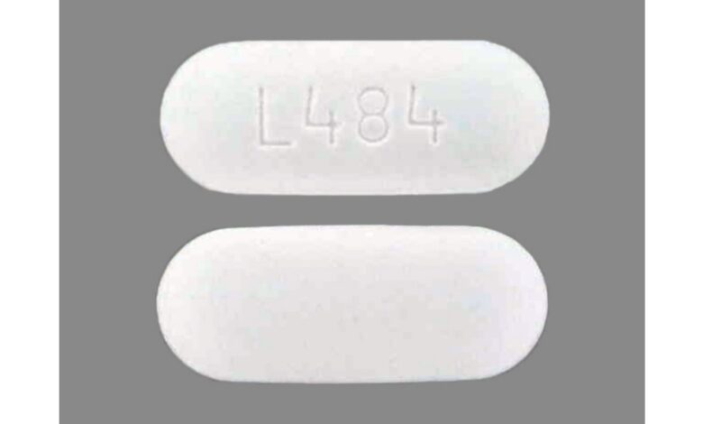 What Does The L 484 White Oblong Pill Contain