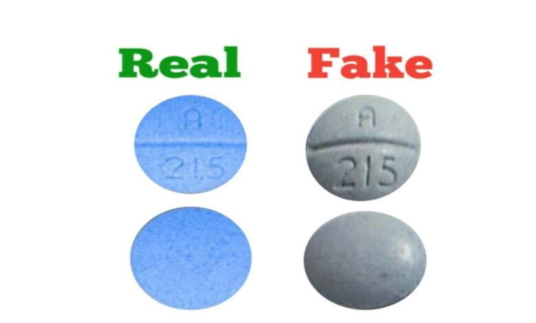 How To Spot A 215 Blue Pill Fake Vs Real