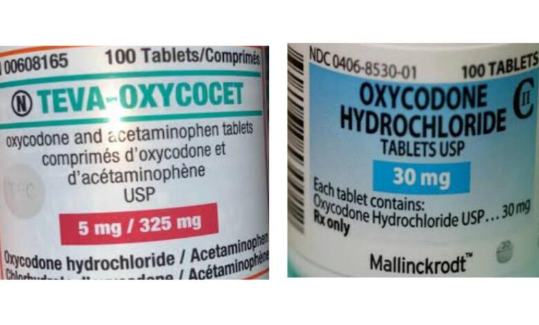 Are Oxycocet the same as Oxycodone