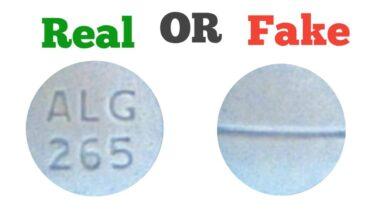 Fake ALG 265 blue Pill