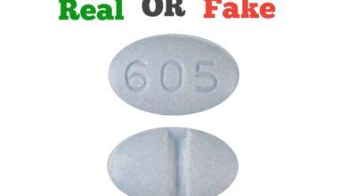 Fake Blue 605 Pill