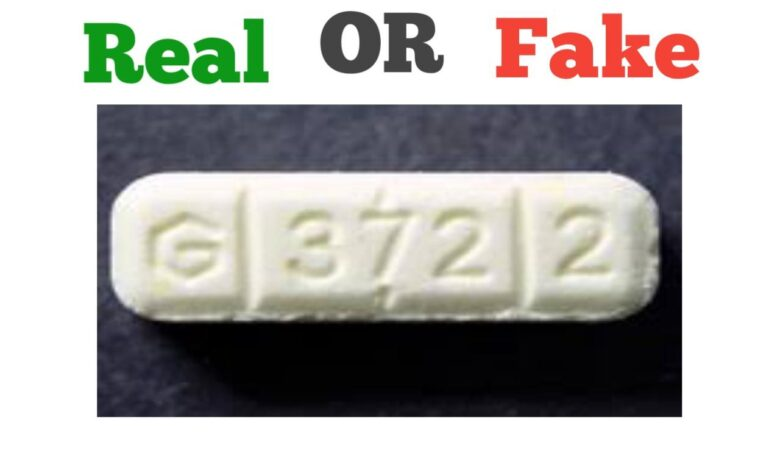 How to Identify Fake G3722 Xanax Bars