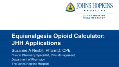 Johns Hopkins Opioid Conversion Program Calculator