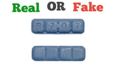 Fake 2mg Blue B707 Xanax Bars