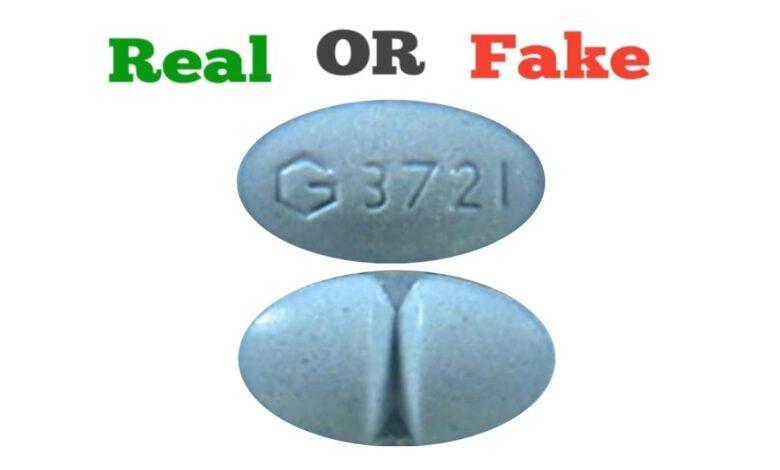 Fake Blue G 3721 Xanax Pill
