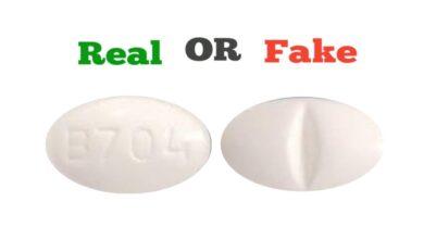 Fake White B704 Xanax Pill