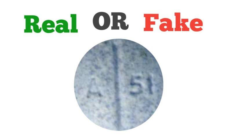 fake A 51 blue pill