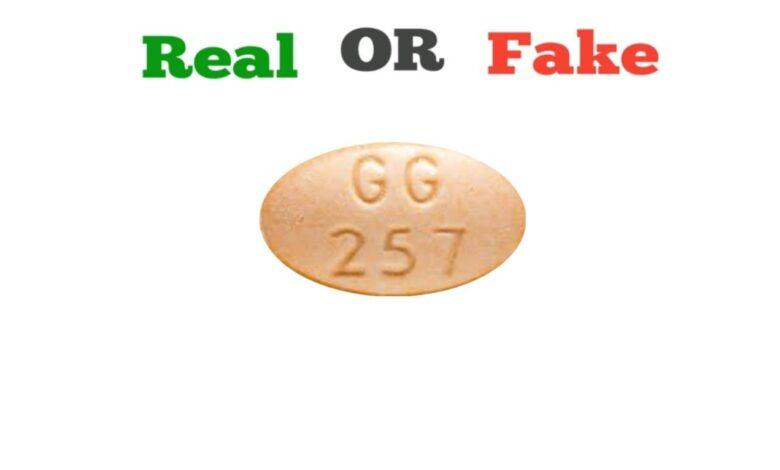 Fake Orange GG 257 Xanax Pill