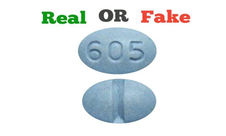 Fake Blue 605 Xanax Pill