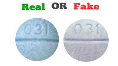 Fake Blue 031 R Xanax Pill