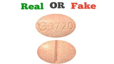 Fake Orange G 3720 Xanax Pill